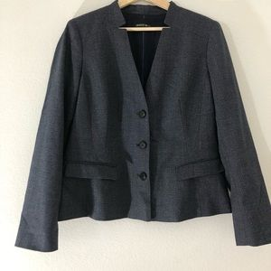 Lafayette 148 3-Button Blazer Wool Silk *No Size*